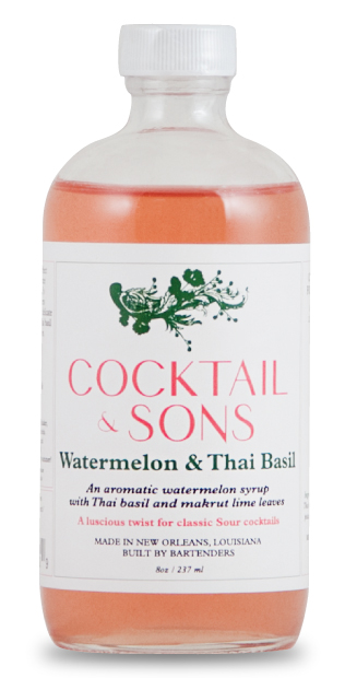 Cocktail & Sons Watermelon & Thai Basil Syrup