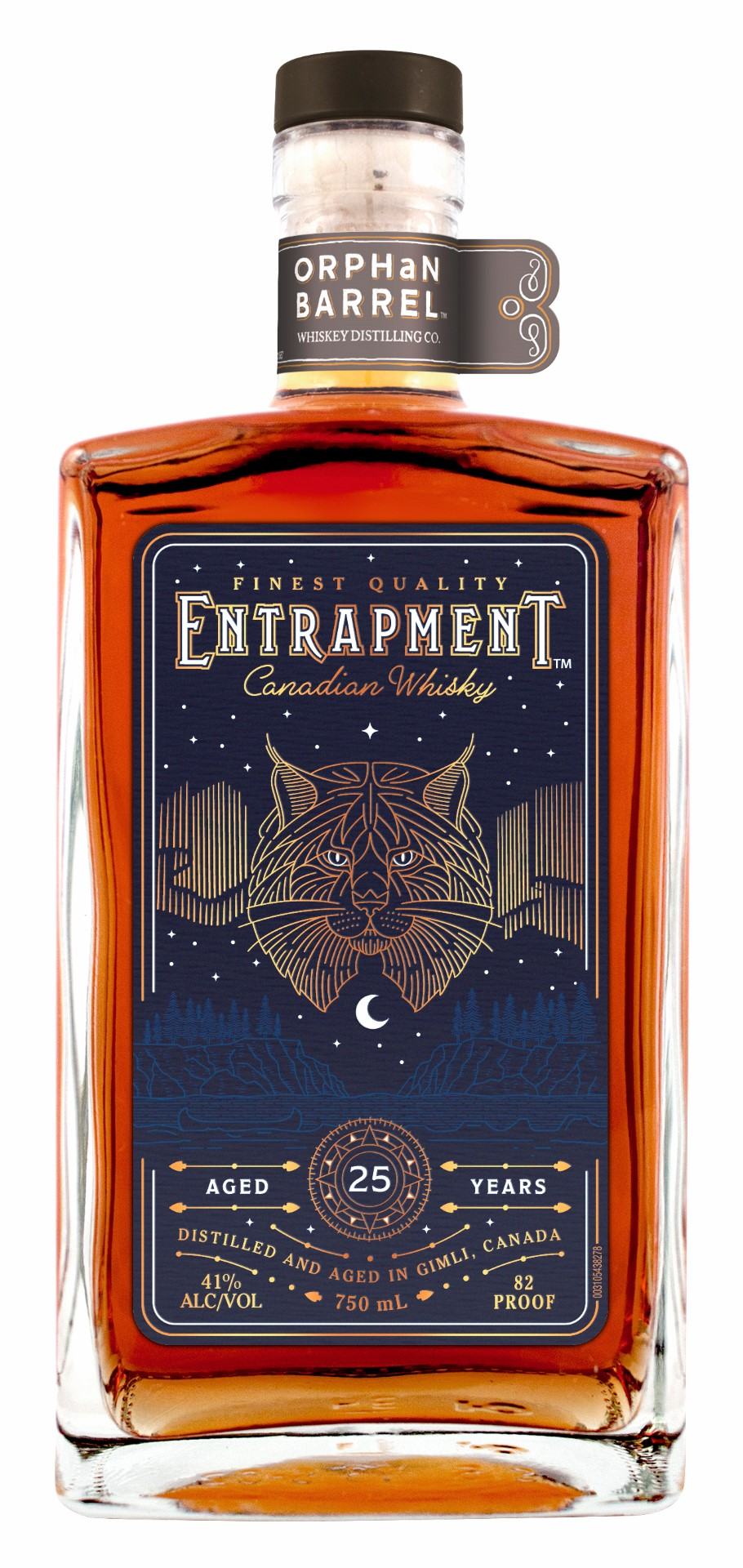 Diageo Orphan Barrel Project Entrapment Canadian Whisky 25 Years Old