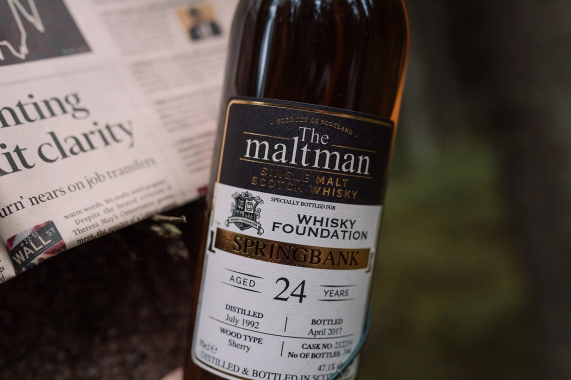 The Maltman Springbank 24 Years Old from Whisky Foundation