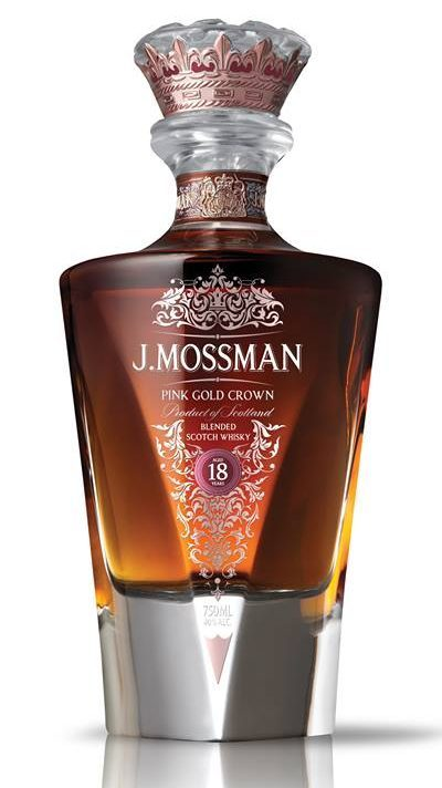 J. Mossman Pink Gold Crown Blended Scotch Whisky 18 Years Old