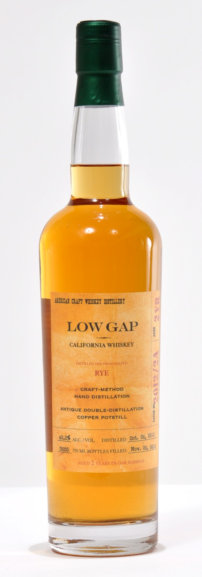 Craft Distillers Low Gap 2 Year Old Rye (2018)