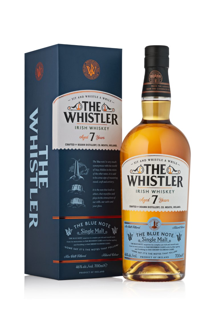 "The Whistler Irish Whiskey ""The Blue Note"" Single Malt 7 Years Old"