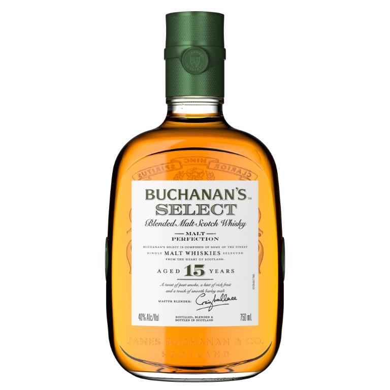 Buchanan's Select Blended Malt Whiskey 15 Years Old