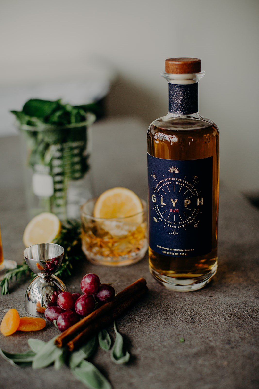 016780d96b6 If you haven't already heard the kooky story of Endless West and Glyph,  well, pull up a chair. Glyph 85H is a whiskey unlike any other. How so?