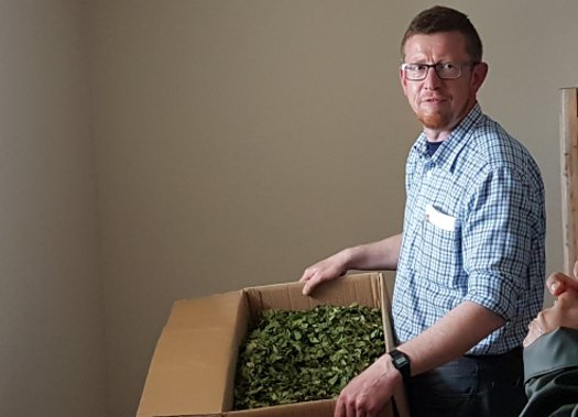 James Donaldson, the Head Forager at The Botanist gin, made by Bruichladdich on the Scottish island of Islay