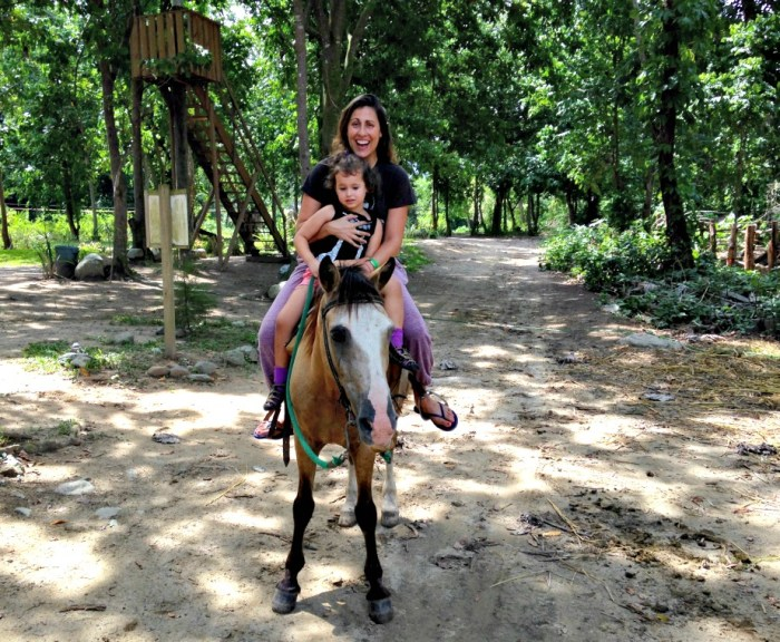 Scaredy Cat on a Horse at Rancho Baiguate
