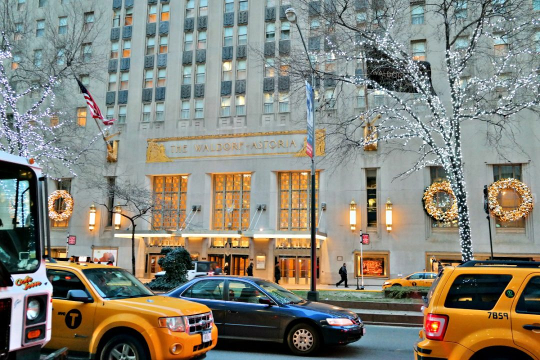 Staying at the Waldorf Astoria