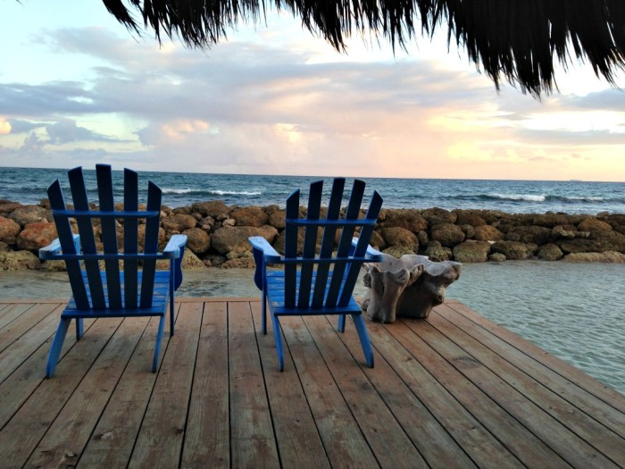 Adirondack Chairs in Sunset