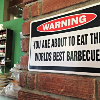 World's Best BBQ Sign at Gran Parador Bellamar