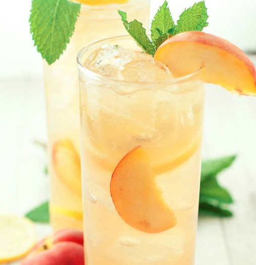 Souther Spiked Peach Iced Tea fun summer cocktail