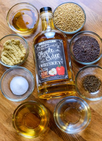 Caraway Whiskey Mustard Ingredients