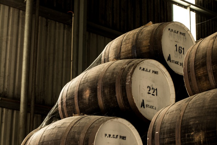 Penfolds fortifieds maturing in its barrel hall, Barossa Valley South Australia