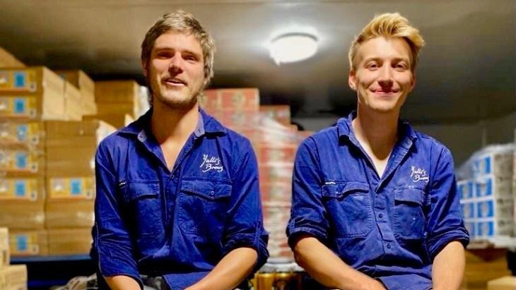 Vegan beer: Yulli's Brews founder James Harvey and head brewer Tom Davies