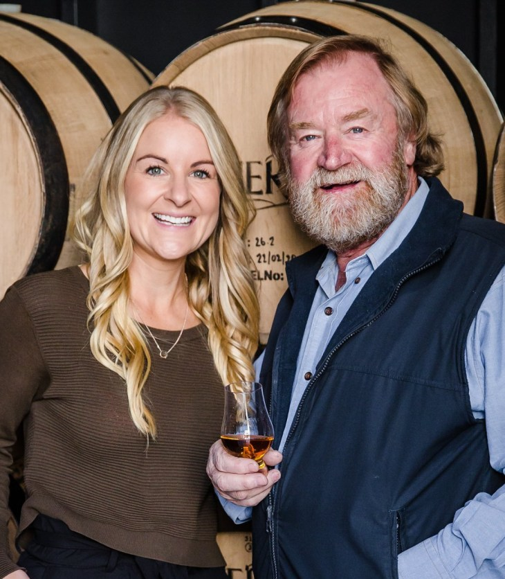 Overeem Whisky founder Casey Overeem with daughter Jane Overeem