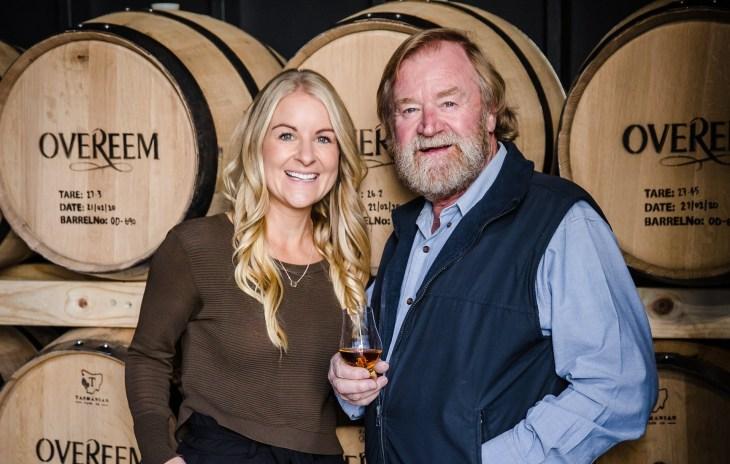 Overeem Whisky founder Casey Overeem with daughter Jane Overeem