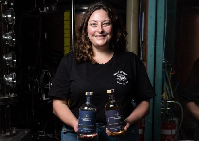 Young Henrys head distiller Carla Daunton with Noble Cut Gin