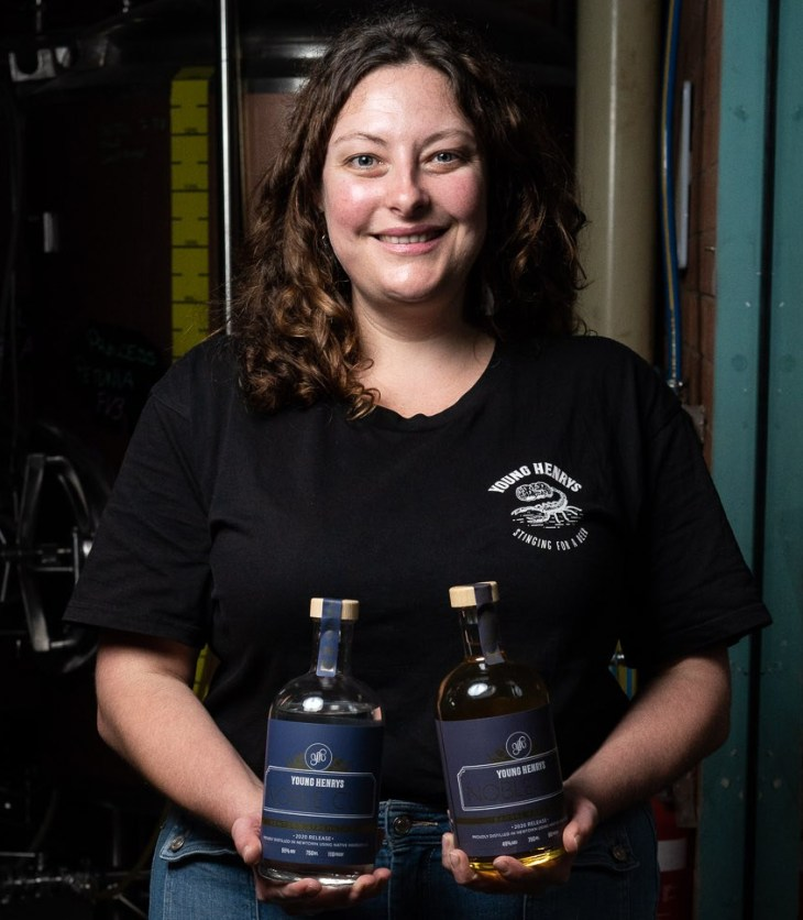 Young Henrys head distiller Carla Daunton