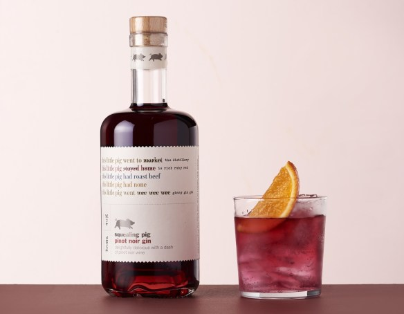 Squealing Pig Pinot Noir Gin signature serve with Tonic