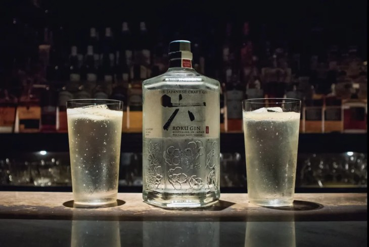 Roku Gin cocktail recipes showcased in Ginza, Tokyo