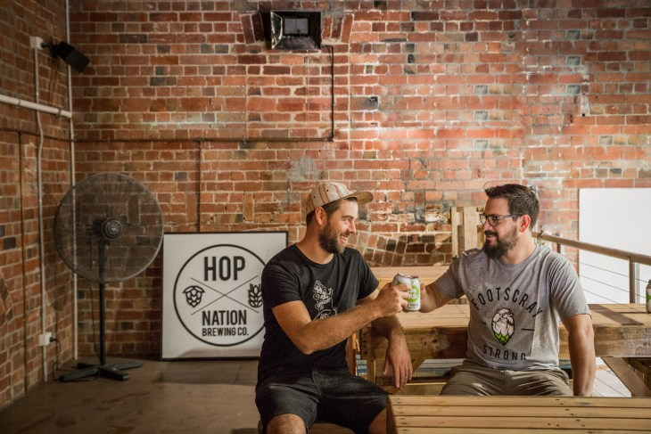 Duncan Gibson and Sam Hambour of Hop Nation