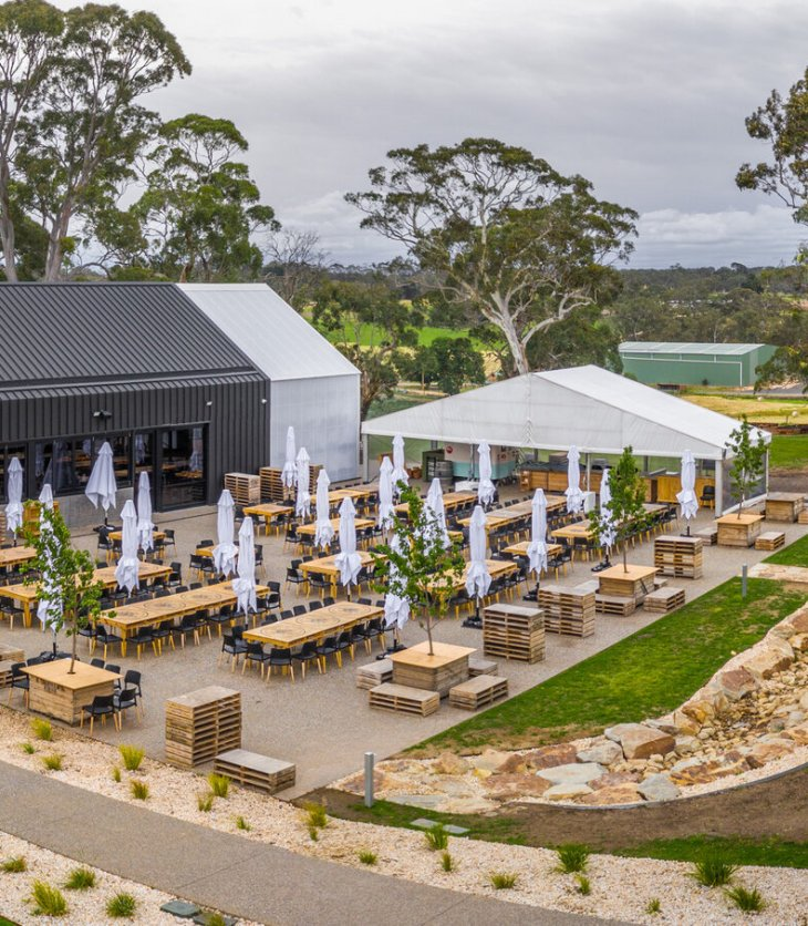 Lot 100, the home of Adelaide Hills Distillery, Mismatch Brewing and Hills Cider