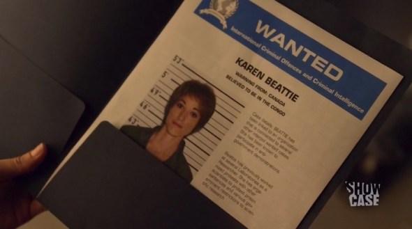 "Karen Beattie Wanted Poster in ""Hail, Hale"""