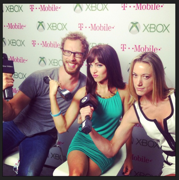 Ksenia Solo, Kris Holden-Ried and Zoie Palmer at SDCC 2013
