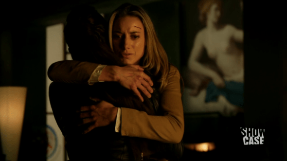Bo and Lauren hug in Dark Horse