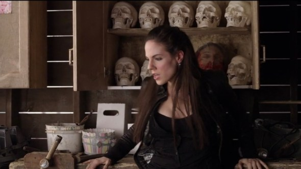 Bo with skulls in Faetal Attraction