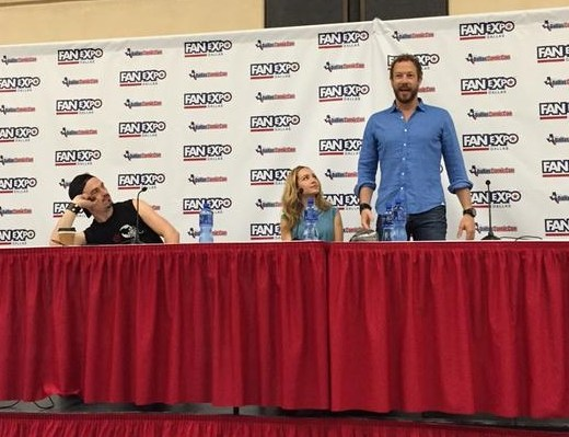 Kris Holden Ried Paul Amos and Ksenia Solo at Fan Expo Dallas
