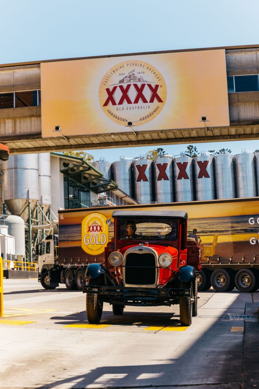 XXXX wooden kegs