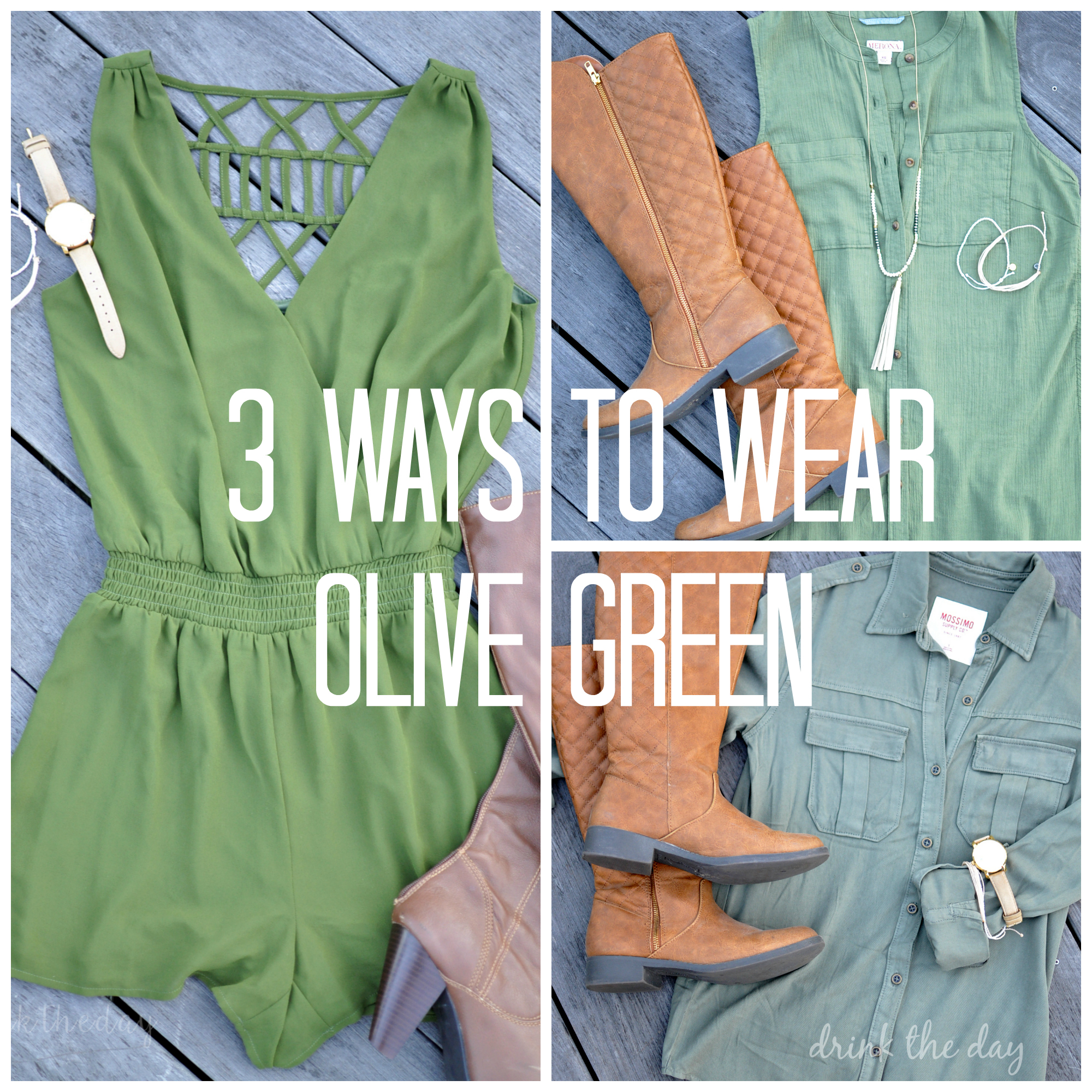 3 Ways To Wear Olive Green | Drink the Day