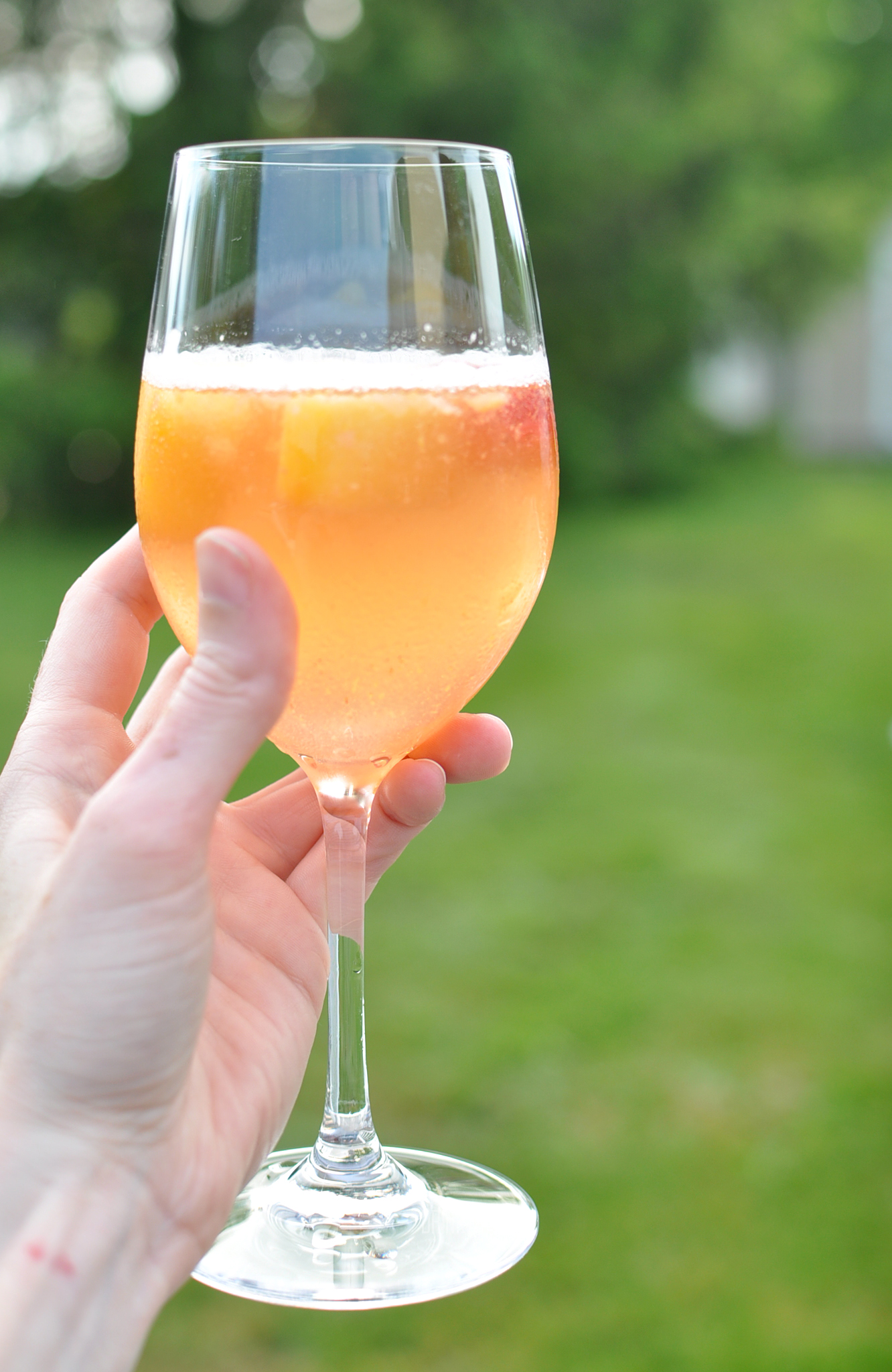 Summer Champagne Sangria + Back Porch Playlist | Drink the Day