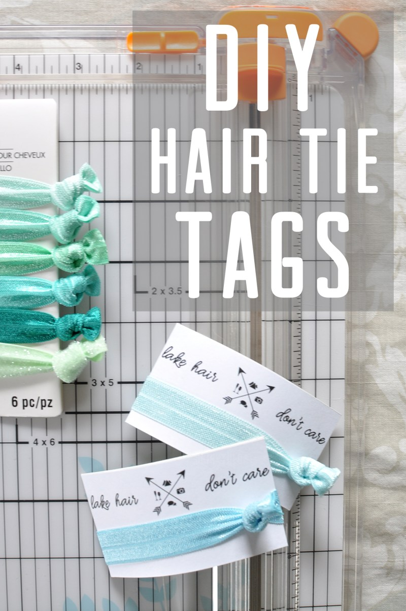 DIY Hair Tie Tags | Drink the Day