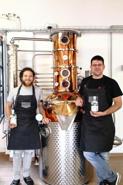 I master distiller nella sede di Eugin