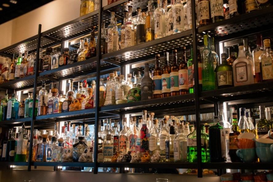 La bottigliera di Agua Sancta