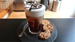 Homemade Chocolate cold brew coffee