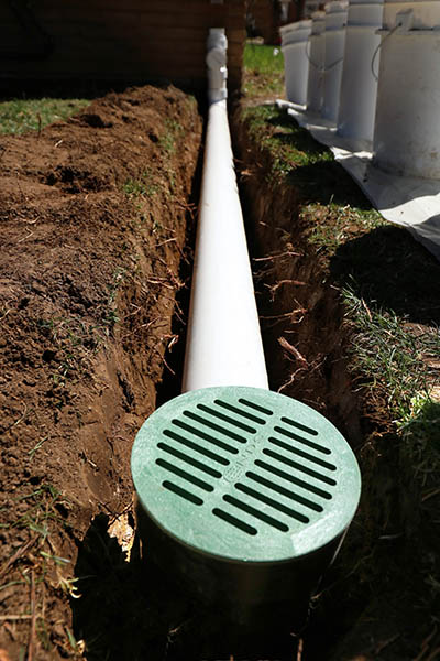 in-ground extension downspout