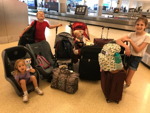 Air travel with a large family