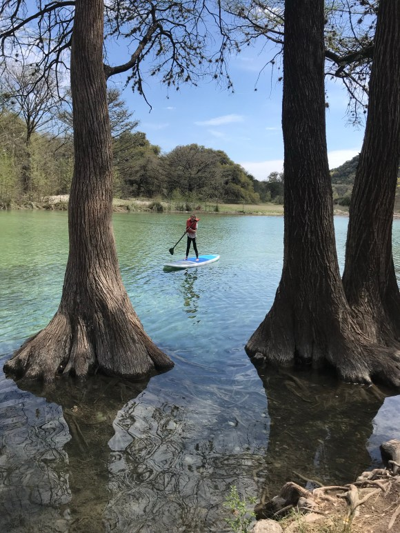 Paddle boarding on the Rio Frio