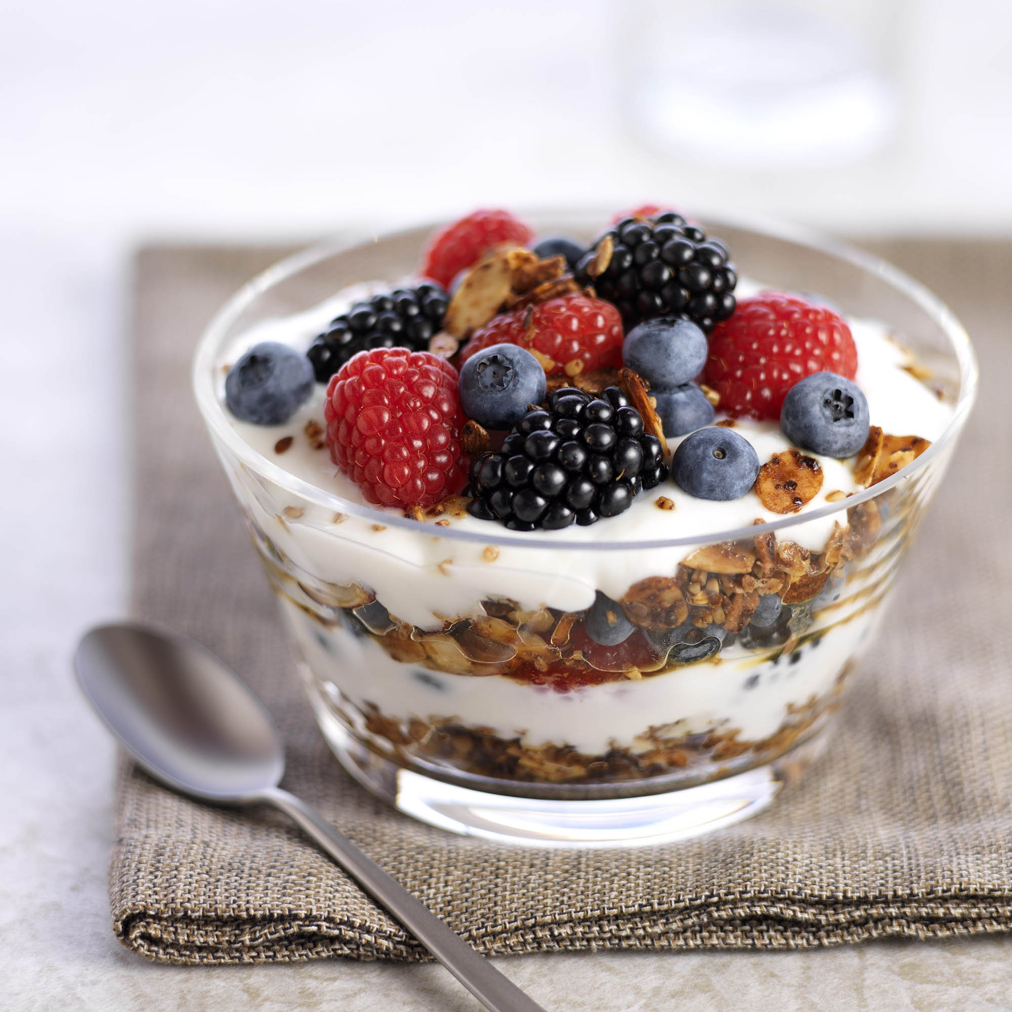 Mixed Berry Parfait With Steel Cut Granola Driscolls
