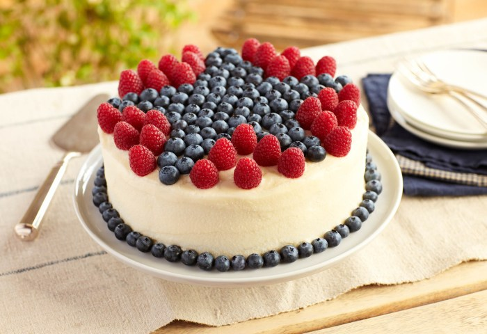 Raspberry Lemon Cake With Blueberries Driscolls