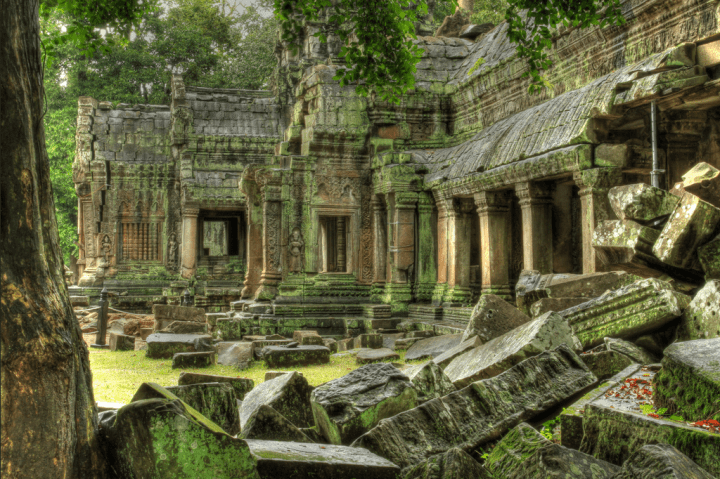 Crumbled ruins of Angkor Wat