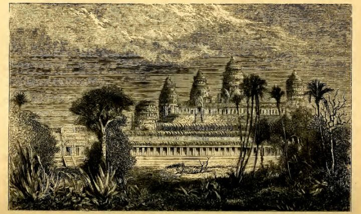 Mouhot drawing of Ongcor - (Angkor Wat)