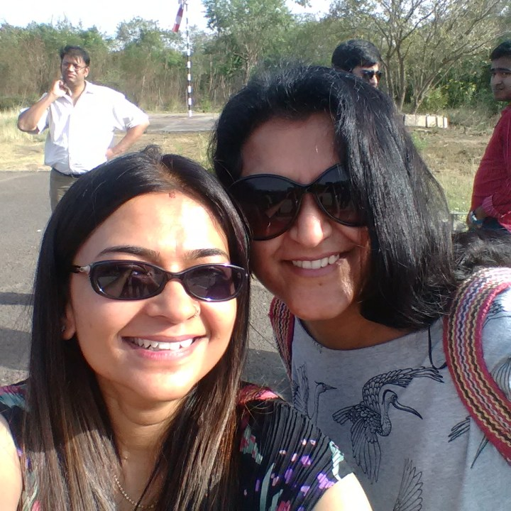 With Pratishtha (Prasanna in the background)