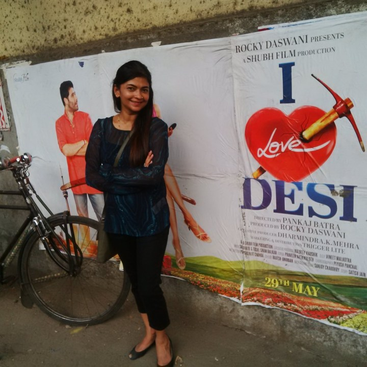 Now now... look at that! This was for posing with a Bollywood poster...