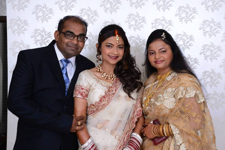 Monty, his wife Manisha and I on my wedding reception