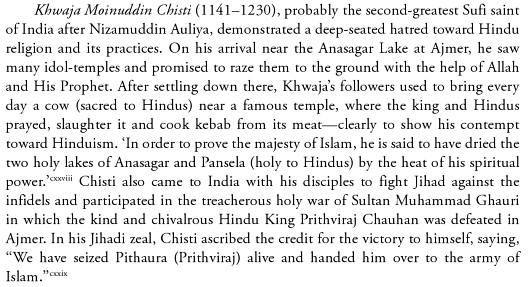 Excerpt from Page 123 of Islamic Jihad: A Legacy of Forced Conversion, Imperialism, and Slavery By M. A. Khan