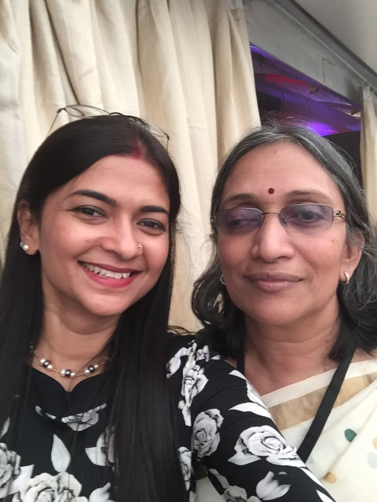 With Vineet's mom - she is super sweet