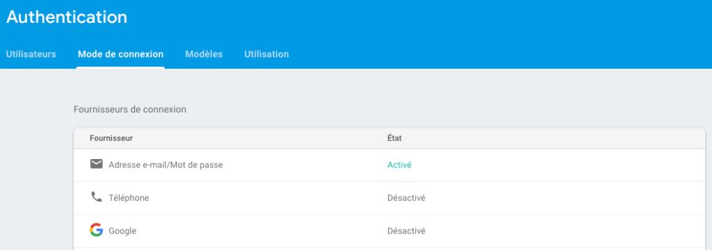 Comment ajouter la méthode de connexion par mail à Firebase ?